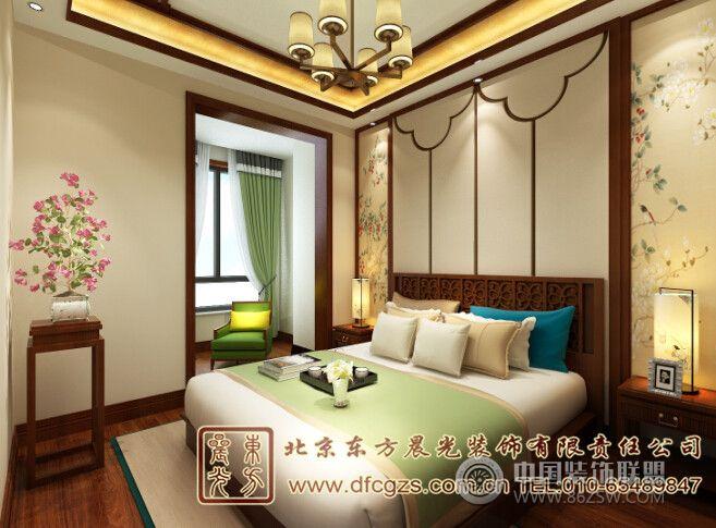 小清新中式装修家居设计-卧室装修图片