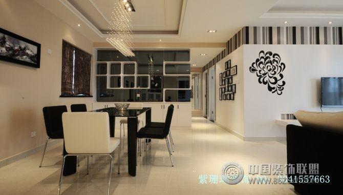 100平米三居室简装-客厅装修效果图-八六(中国)装饰(.