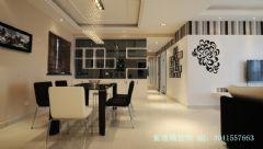 100平米三居室简装现代风格三居室