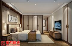 三层别墅中式装修设计中式风格卧室装修图片