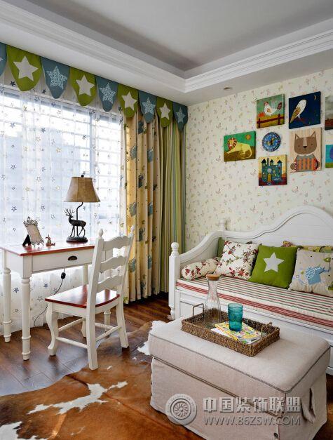 美式地中海混搭風格-書房裝修圖片