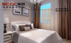 K2玉兰湾B3户型90平装修-诗意简约之美现代风格卧室装修图片