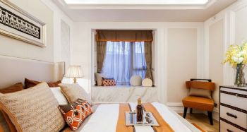 110平古典奢华三居设计古典风格卧室装修图片