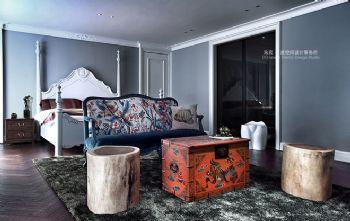 200平米后现代风格四居室现代风格卧室装修图片