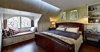 140平米美式混搭设计美式风格卧室装修图片