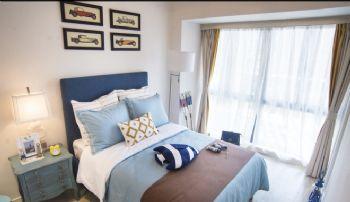 清新地中海二居装修案例地中海风格卧室装修图片