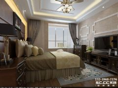 兰州海亮滨河壹号95㎡欧罗巴的低奢美式风格卧室装修图片