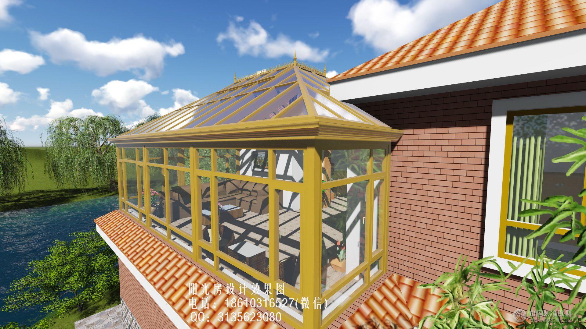 別墅陽光房設計效果圖-客廳裝修圖片