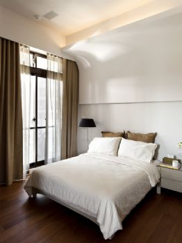 现代简约中户型装修效果图简约风格卧室装修图片