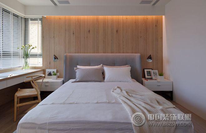 木质简约风格阳光大户-卧室装修效果图-八六(中国)