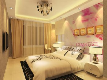 旧房翻新亮色二居室设计图现代风格卧室装修图片