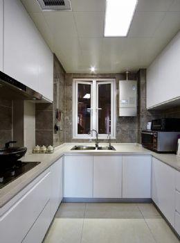 137平現代簡約三居設計簡約風格廚房裝修圖片