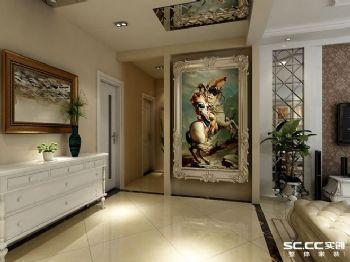 簡歐風格三居裝修設計圖歐式風格過道裝修圖片