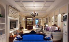 【淮南博大装饰】淮南中央美域现代简约装修案例欧式风格三居室