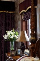 成都尚层装饰别墅装修推荐麓湖生态城蓝花屿美式古典风格案例美式风格玄关装修图片
