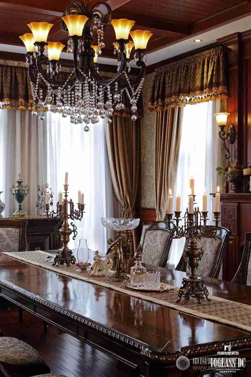 成都尚层装饰别墅装修推荐麓湖生态城蓝花屿美式古典风格案例-其它