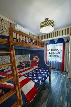 新古典三居裝修實景案例古典風格兒童房裝修圖片