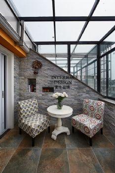 美式简约大户型装修案例欣赏美式风格阳台装修图片