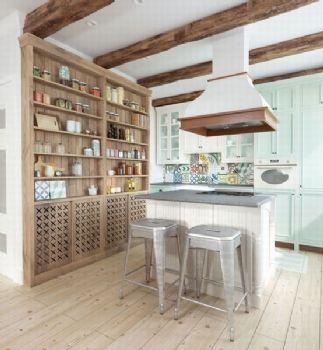 法式鄉村風格小戶型案例簡約風格廚房裝修圖片
