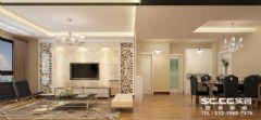 兰州实创装饰装修锦河丹堤111㎡简约现代现代风格三居室
