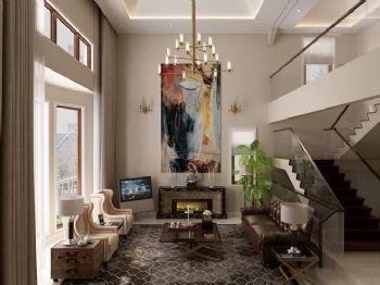 混搭风格别墅设计案例混搭风格客厅装修图片