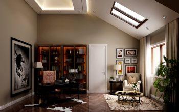 混搭风格别墅设计案例混搭风格书房装修图片