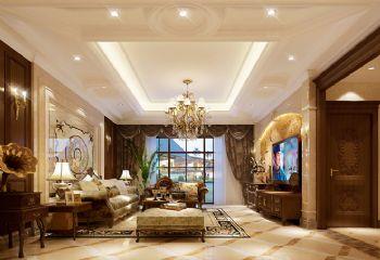 欧式别墅客厅装修设计案例