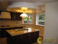 竹溪园别墅中式装修设计高端大气中式风格厨房装修图片