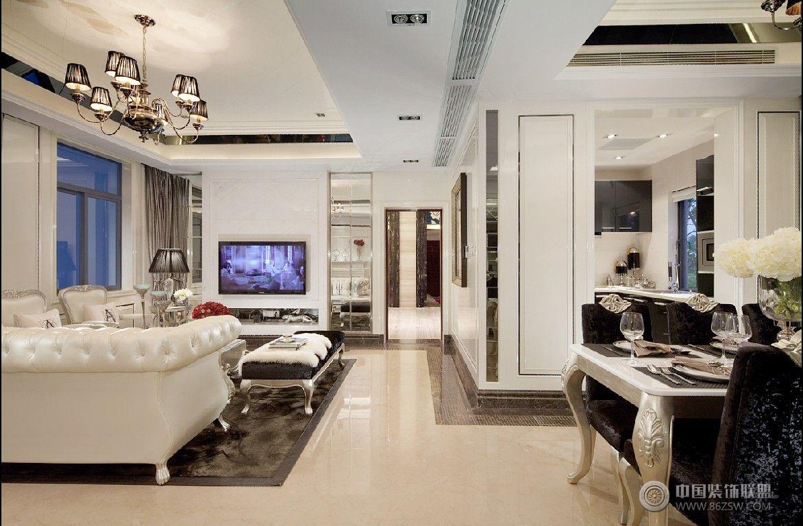 国风美唐 134平现代简欧风格-客厅装修图片图片