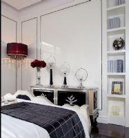 国风美唐 134平现代简欧风格现代简约风格卧室装修图片