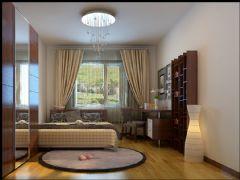 锦顺家园 125平现代简约风格现代简约风格卧室装修图片