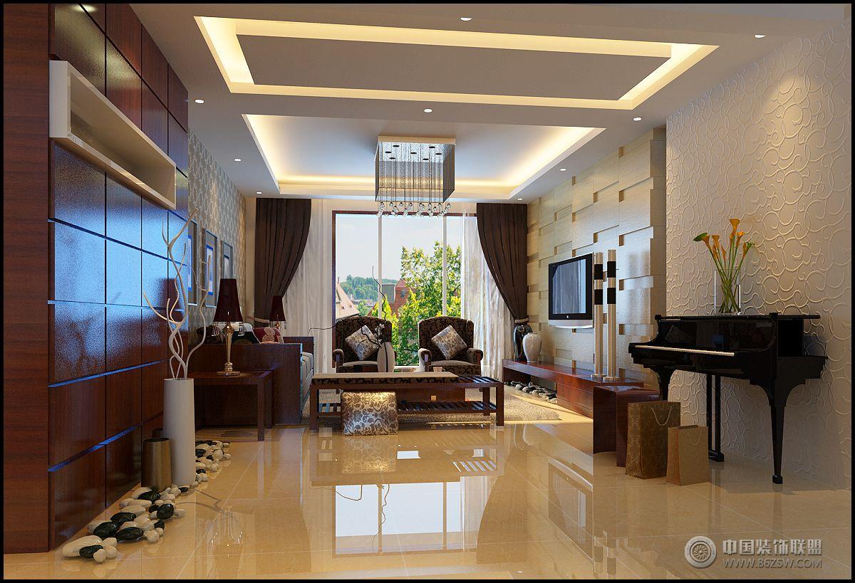 锦顺家园 125平现代简约风格-客厅装修图片