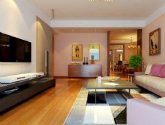 金色漫香林 106平现代简约风格现代简约风格客厅装修图片