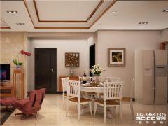 兰州实创装饰装修-天成·金色堤岸124㎡棂间古韵古典风格三居室