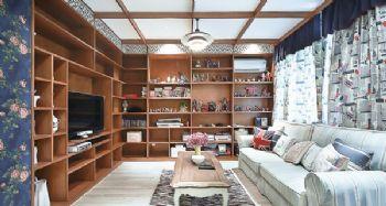 田园地中海混搭小户型案例混搭风格客厅装修图片