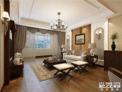 兰州实创装饰装修中广·宜景湾尚城115㎡美式美式风格二居室