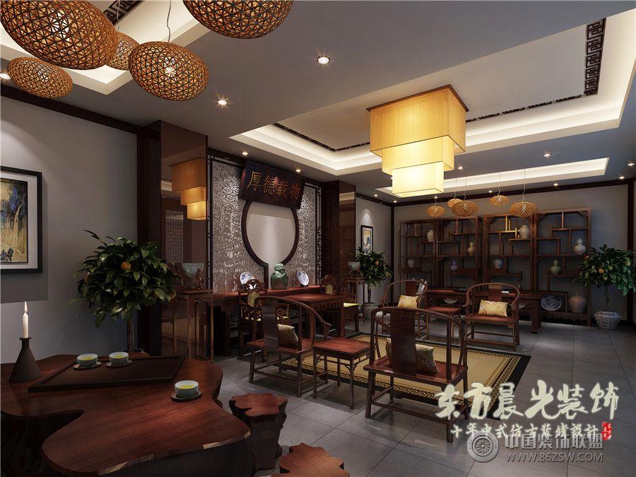 中式四合院设计室内设计 客厅装修效果图 八六 中国 装饰