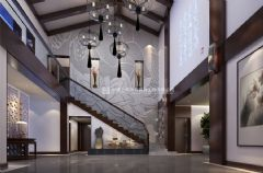 精裝公寓新中式風格裝修效果圖案例_安彩公寓
