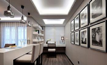 现代简约公寓装修效果图现代风格书房装修图片