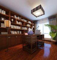 红木林 109平新中式中式风格书房装修图片