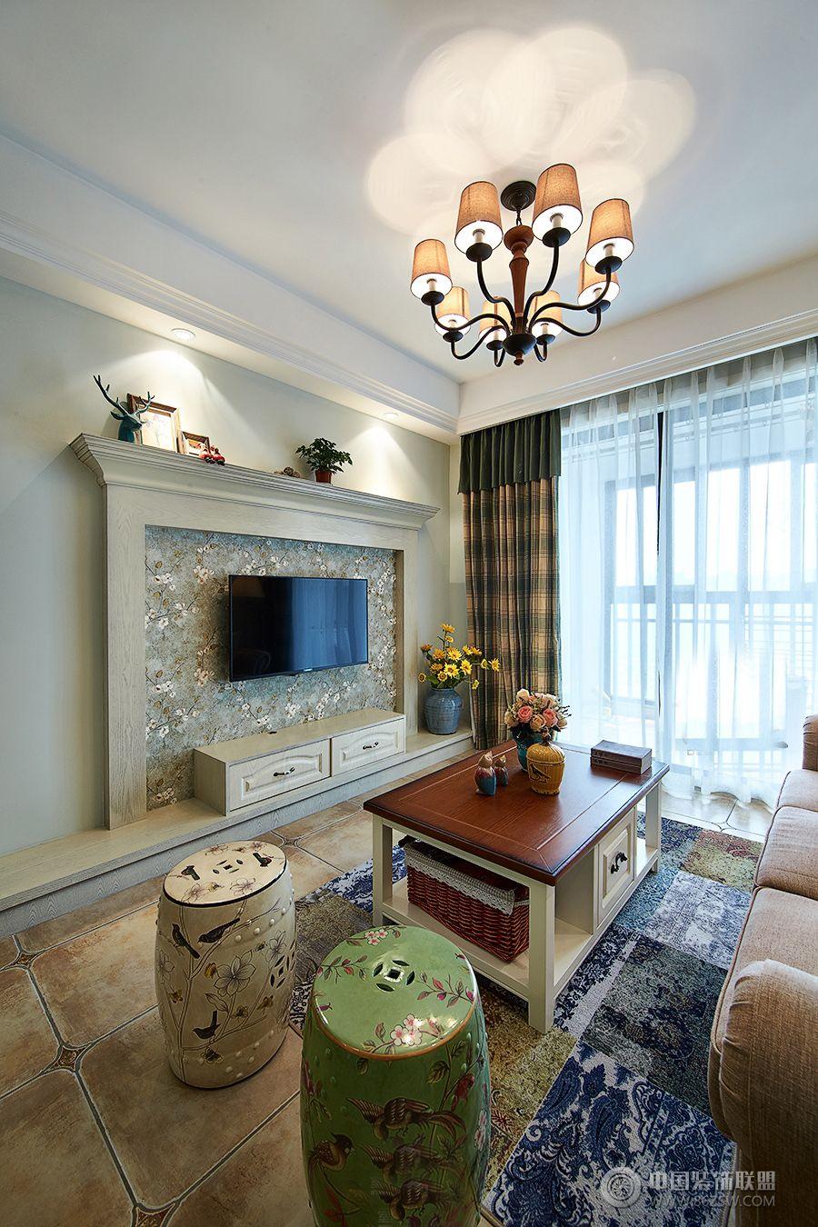 乡村美式-客厅装修效果图-八六(中国)装饰联盟装修