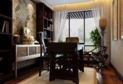 中式古典古典风格书房装修图片
