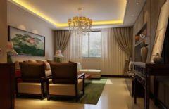 中式古典古典风格客厅装修图片