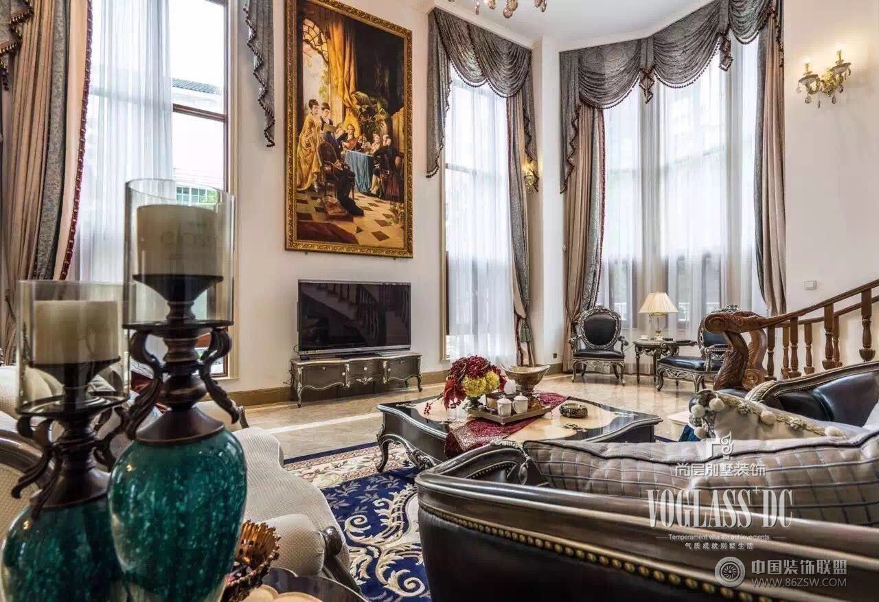 乐山金水湾法式风格完工实景照片 客厅装修效果图 八六 中国 装饰联盟