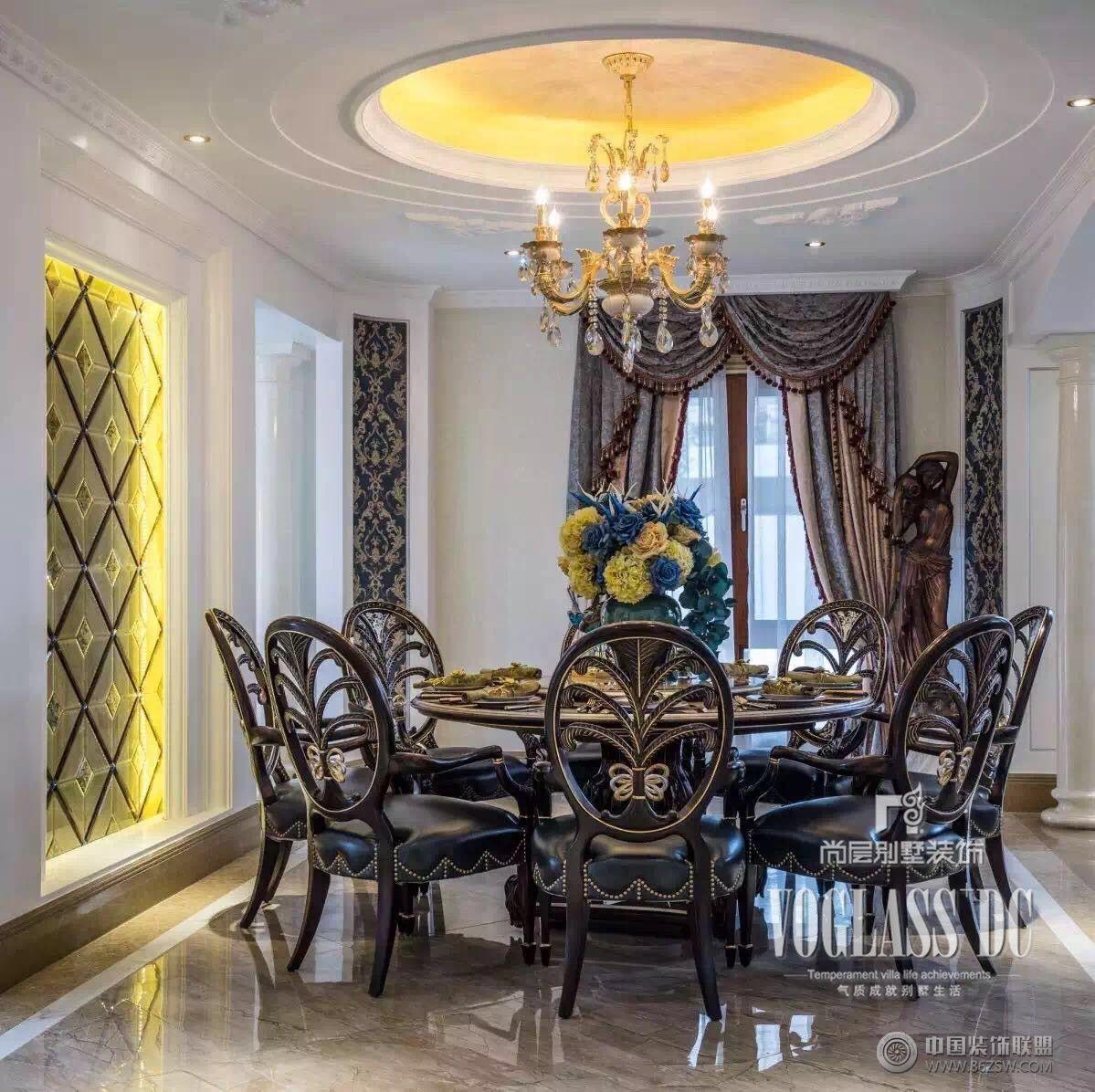 湾法式风格完工实景照片 餐厅装修效果图 八六 中国 装饰联盟装修效