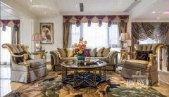 乐山金水湾法式风格完工实景照片美式风格客厅装修图片