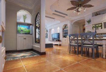 地中海風格三居室設計欣賞地中海風格過道裝修圖片