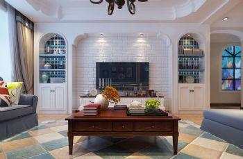 地中海风格三居室设计欣赏地中海风格客厅装修图片