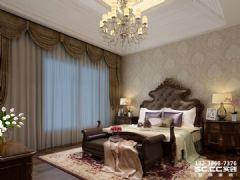 兰州实创装修装饰瑞南紫郡123㎡简美美式风格卧室装修图片