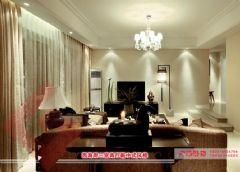 【烟台广来装饰】西海岸三室两厅新中式风格效果图中式风格三居室
